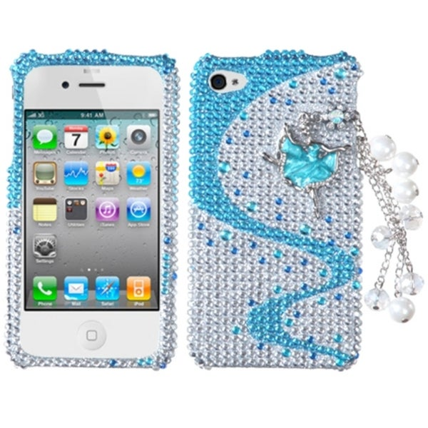 INSTEN Ballerina Chain 3D Diamante Phone Case Cover for Apple iPhone 4/ 4S