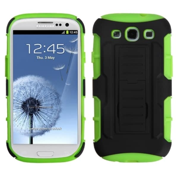 INSTEN Car Armor Stand Phone Case Cover for Samsung Galaxy S3/ S III