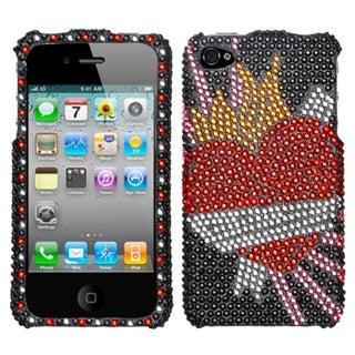 INSTEN Heartbreaker Diamante Phone Case Cover for Apple iPhone 4/ 4S