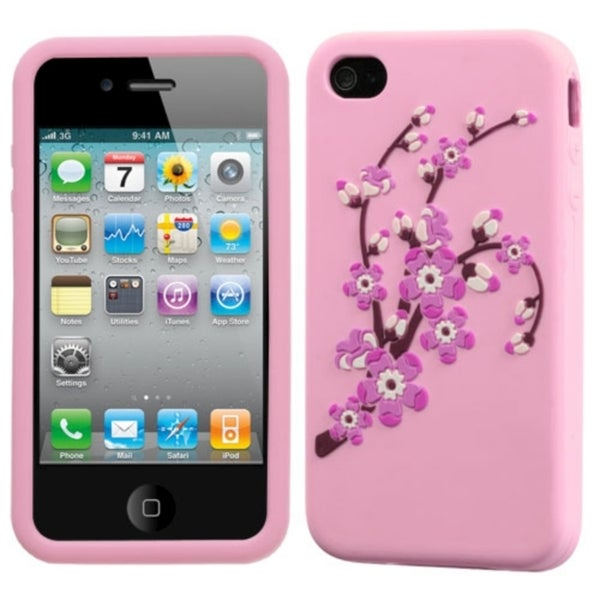INSTEN Spring Flowers/ Pink Pastel Skin Phone Case Cover for Apple iPhone 4/ 4S