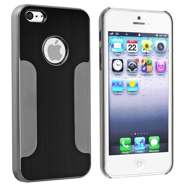 BasAcc Black Brushed Chrome Aluminum Snap-On Case For Apple® iPhone 5/ 5S