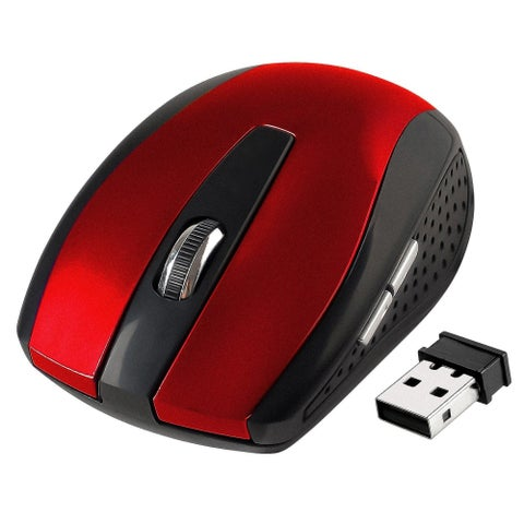INSTEN Red 2.4G Cordless Wireless Optical Mouse