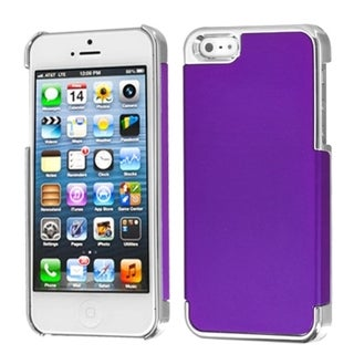 INSTEN Grape/ Silver MyDual Back Protector Phone Case for Apple iPhone 5/ 5S/ 5C/ SE