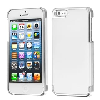 INSTEN White/ Silver MyDual Back Protector Phone Case for Apple iPhone 5/ 5S/ 5C/ SE