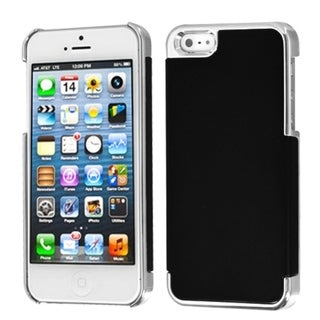 INSTEN Black/ Silver MyDual Back Protector Phone Case for Apple iPhone 5/ 5S/ 5C/ SE
