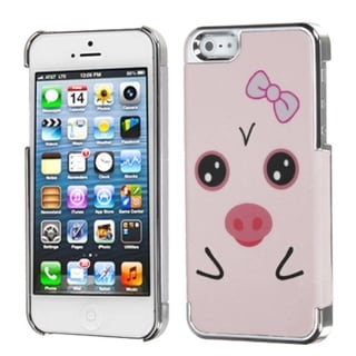 INSTEN Hungry Piggy/ Silver Plating MyDual Phone Case for Apple iPhone 5/ 5S/ SE