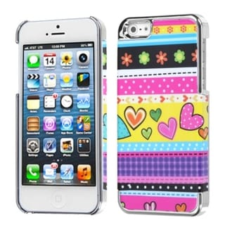 INSTEN Sketched Bars/ Silver MyDual Phone Case for Apple iPhone 5/ 5S/ SE