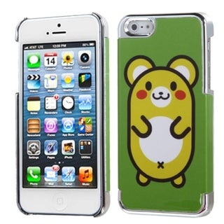 INSTEN Cute Hamster/ Silver Plating MyDual Phone Case for Apple iPhone 5/ 5S/ SE