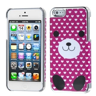 INSTEN Dog Love/ Silver Plating MyDual Phone Case for Apple iPhone 5/ 5S/ SE