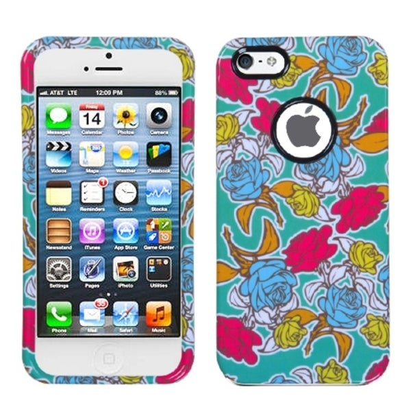 INSTEN Rose Garden Protector Phone Case for Apple iPhone 5/ 5S/ 5C/ SE