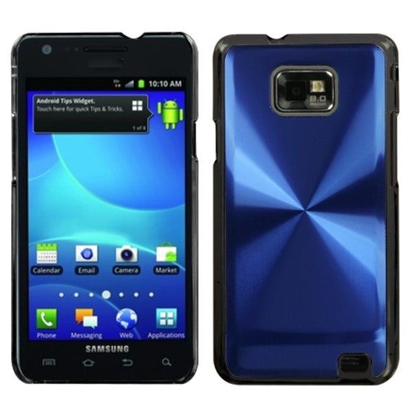 INSTEN Blue Cosmo Back Phone Case Cover for Samsung I777 Galaxy S II