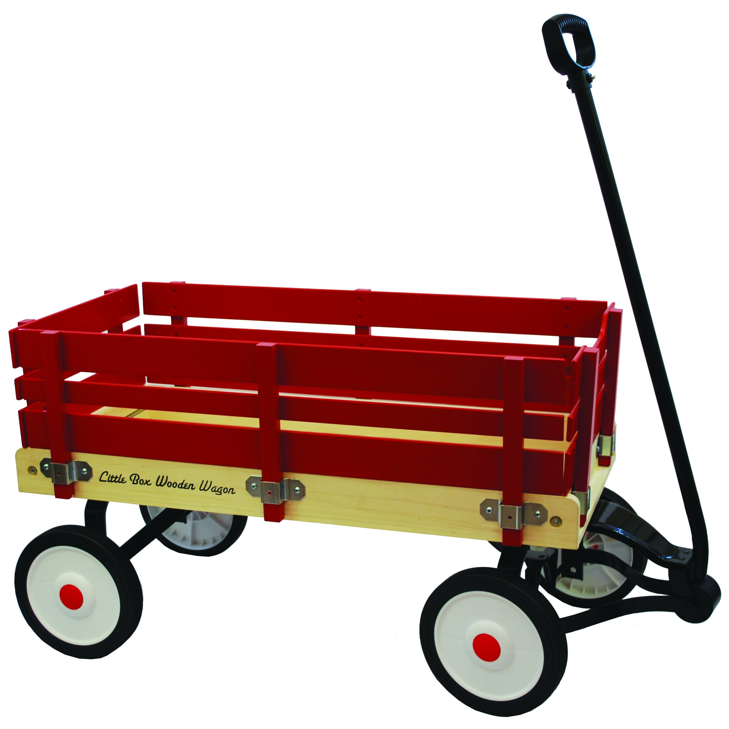 """Grand Forward Little Box 34-inch Wooden Wagon (Red 34"""" wo..."""