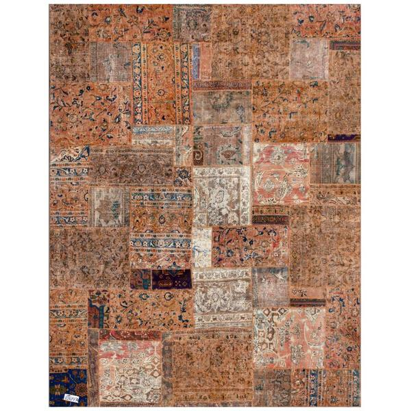 Handmade Herat Oriental Pak Persian Patchwork Wool Rug - 7'10 x 9'10 (Iran)