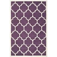 Safavieh Contemporary Handmade Moroccan Purple Wool Rug - 8'9' x 12'