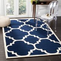 "Safavieh Contemporary Handmade Moroccan Dark Blue Wool Rug (8'9"" x 12')"