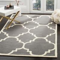 "Safavieh Handmade Moroccan Dark Grey Wool Area Rug - 8'9"" x 12'"