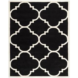 Safavieh Handmade Moroccan Chatham Black Wool Rug (8'9 x 12')