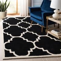 "Safavieh Handmade Moroccan Chatham Black Wool Rug - 8'9"" x 12'"