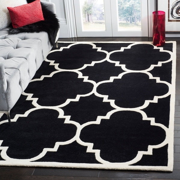 Safavieh Handmade Moroccan Chatham Black Wool Rug - 8'9 x 12'