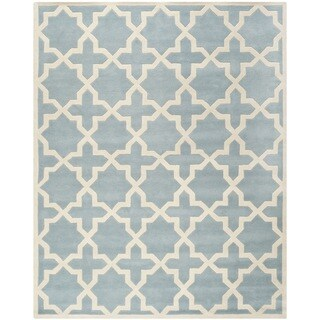 "Safavieh Handmade Moroccan Blue Pure Wool Rug (8'9"" x 12')"