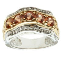 Michael Valitutti 14k Two-tone Gold Imperial Garnet and Diamond Ring