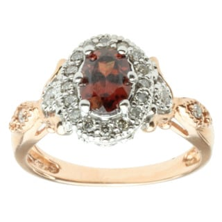 Michael Valitutti 14k Two-tone Gold Rose Zircon and Diamond Ring