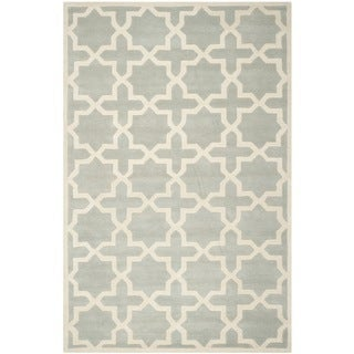 "Safavieh Handmade Cotton-Backed Moroccan Gray Wool Rug (8'9"" x 12')"