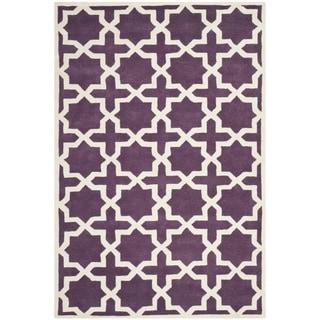 Safavieh Handmade Moroccan Chatham Purple Wool Rug (8'9 x 12')