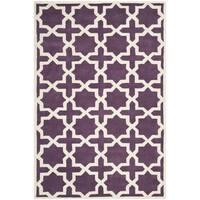 "Safavieh Handmade Moroccan Chatham Purple Wool Rug - 8'9"" x 12'"