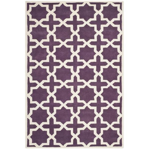 Safavieh Handmade Moroccan Chatham Purple Wool Rug - 8'9 x 12'