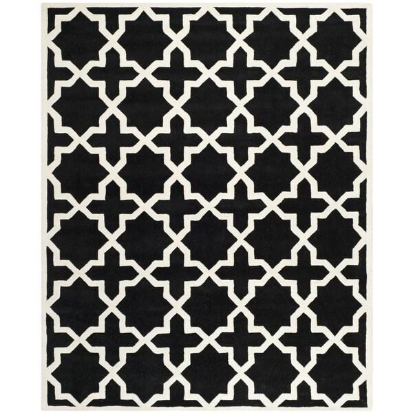 Safavieh Handmade Cotton-Backed Moroccan Black Wool Rug - 8'9' x 12'