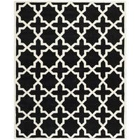 "Safavieh Handmade Cotton-Backed Moroccan Black Wool Rug - 8'9"" x 12'"