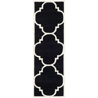 "Safavieh Handmade Moroccan Black Pure Wool Rug (2'3"" x 7')"