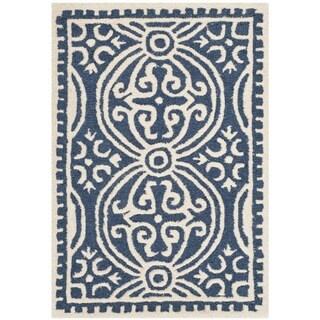 Safavieh Handmade Cambridge Moroccan Navy Oriental Wool Rug - 2' x 3'