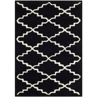 Safavieh Handmade Moroccan Black Wool Area Rug (3' x 5')