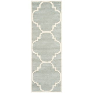 Safavieh Chatham Gray Handmade Moroccan Contemporary Wool Rug (2'3 x 11')