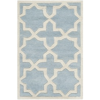Safavieh Handmade Moroccan Blue Pure Wool Rug (2' x 3')