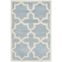 Safavieh Handmade Moroccan Blue Pure Wool Rug - 2' X 3'