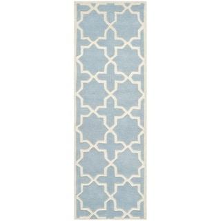 Safavieh Handmade Moroccan Blue Wool Area Rug (2'3 x 11')
