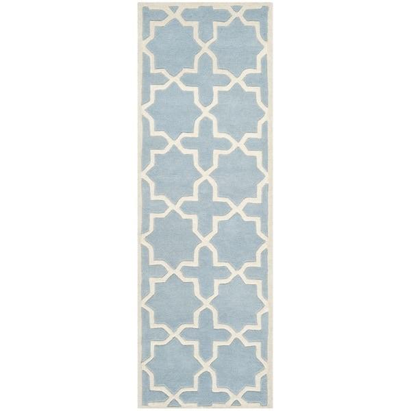 Shop Safavieh Handmade Moroccan Blue Cross Pattern Wool