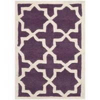 Contemporary Safavieh Handmade Moroccan Chatham Purple Wool Rug - 3' x 5'