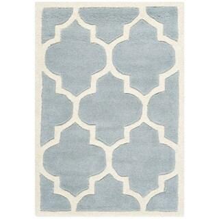 Safavieh Handmade Moroccan Blue Indoor Wool Rug (2' x 3')