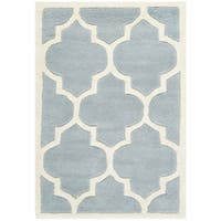 Safavieh Handmade Moroccan Blue Indoor Wool Rug - 2' X 3'