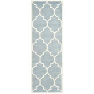 Safavieh Handmade Moroccan Chatham Blue Wool Rug (2'3 x 9')