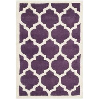 Safavieh Chatham Purple Moroccan-style Handmade Wool Rug (2' x 3')