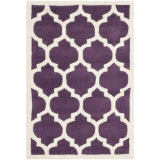 Safavieh Chatham Purple Moroccan Style Handmade Wool Rug (2u0027 X ...
