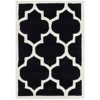 Safavieh Geometric Handmade Moroccan Black Wool Rug - 2' X 3'