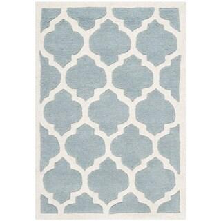 Safavieh Handmade Moroccan Blue Casual Wool Rug (2' x 3')