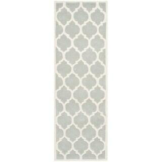 Safavieh Handmade Moroccan Chatham Grey Wool Rug (2'3 x 11')