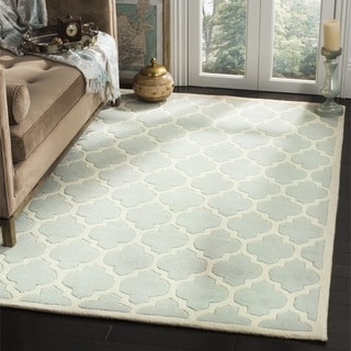 Safavieh Handmade Moroccan Chatham Gray Wool Geometric Area Rug (3' x 5')